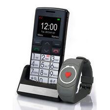 Unlocked Big Button Senior Mobile Phone SOS Button + emergency bracelet & camera