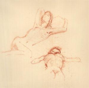 20th Century Sanguine - Female Nude Study
