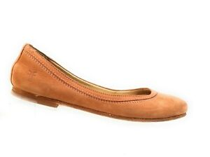 Frye-3472116-Women-039-Shoes-Brown-Soft-Nubuck-Flats-Slip-On-Loafers-Size-7-5-B