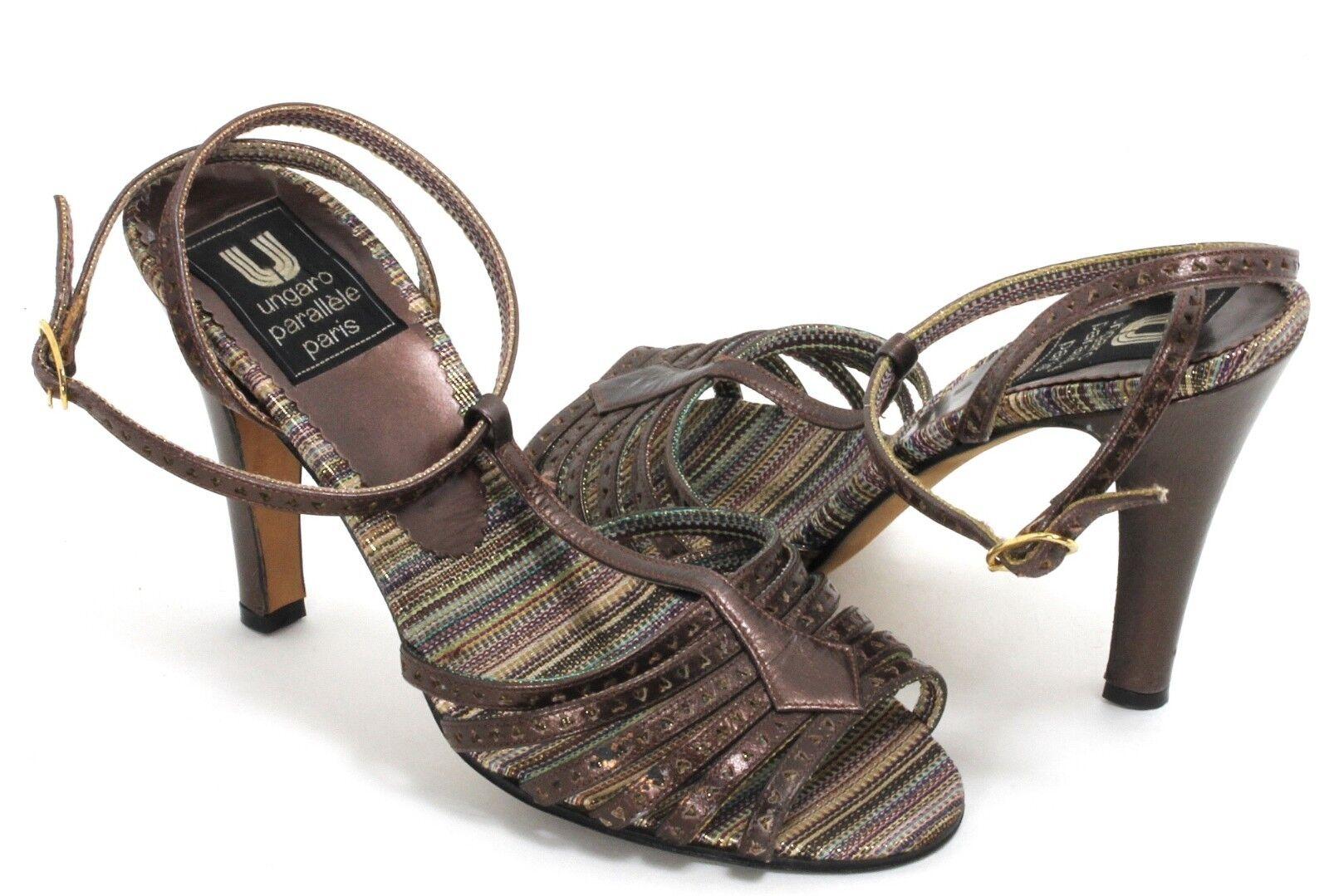 Elegant Vintage Pumps Stilettos Leder ungaro parallèle paris Slingback 35