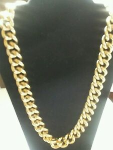 gold large bling costume jewelry necklace size 11 inches long eBay
