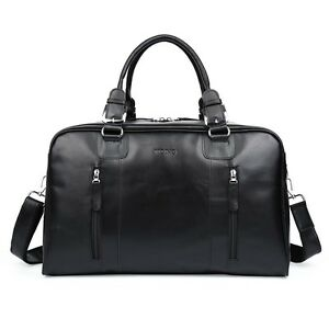 Mens-Large-Nappa-Leather-Duffle-Gym-Shoulder-Travel-Tote-Luggage-Holdall-Bags
