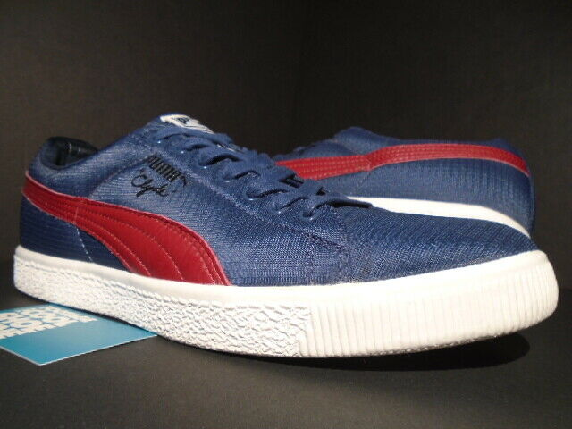 size 40 c98b6 6415e PUMA CLYDE x UNDFTD RIPSTOP UNDEFEATED INSIGNIA BLUE RED WHITE 352772-01  10.5