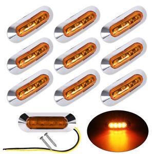 10-x-Amber-LED-Side-Marker-Indicator-Light-Lamp-for-Caravan-Truck-Trailer-Lorry