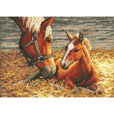 Good Morning Petite Gold Collection Cross Stitch Kit Dimensions NEW horse pony