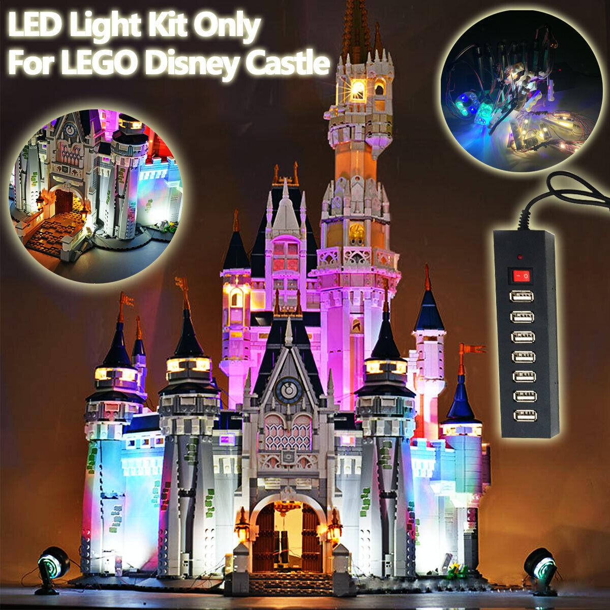 Updated USB LED Light Kit ONLY For Lego 71040 For Disney Castle Bricks Toy m