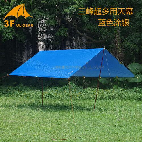 3F UL GEAR Ultralight Tarp Outdoor Camping Survival Sun Shelter Shade Awning