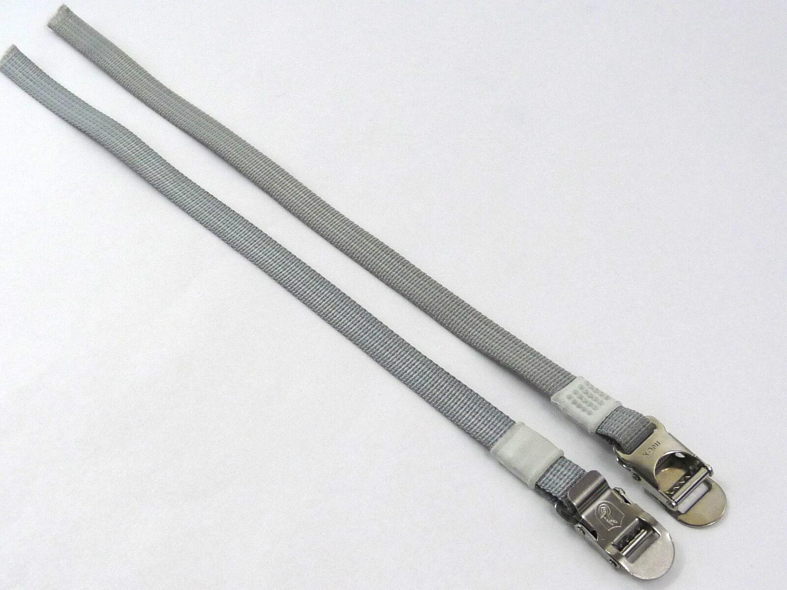 Campagnolo Pedal toe straps grey nylon Vintage Road racing Bicycle NOS