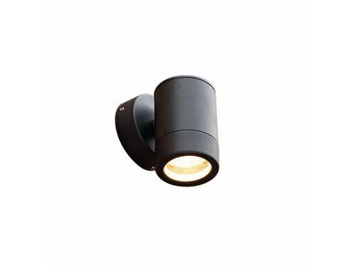 Noir fixe paroi unique lumière IP65 Knightsbridge wall1lbk gu10led Lampe