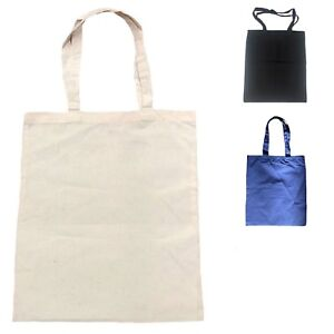 0e032c81a2 Image is loading 50-Lot-Cotton-Plain-Reusable-Grocery-Shopping-Tote-