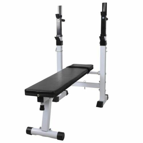 vidaXL Fitness Hantelbank mit Ablage Kraftstation Trainingsbank Fitnessstation