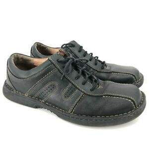 clarks men's leather casual lace up shoes size 10 black