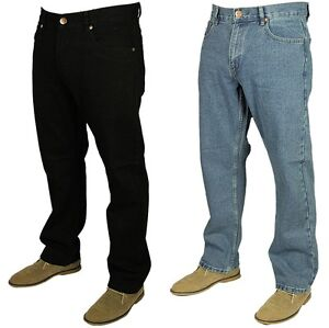 Forge-F101-Mens-Jeans-Straight-Leg-Regular-Fit-Denim-Trouser-Pants-Size-30-60