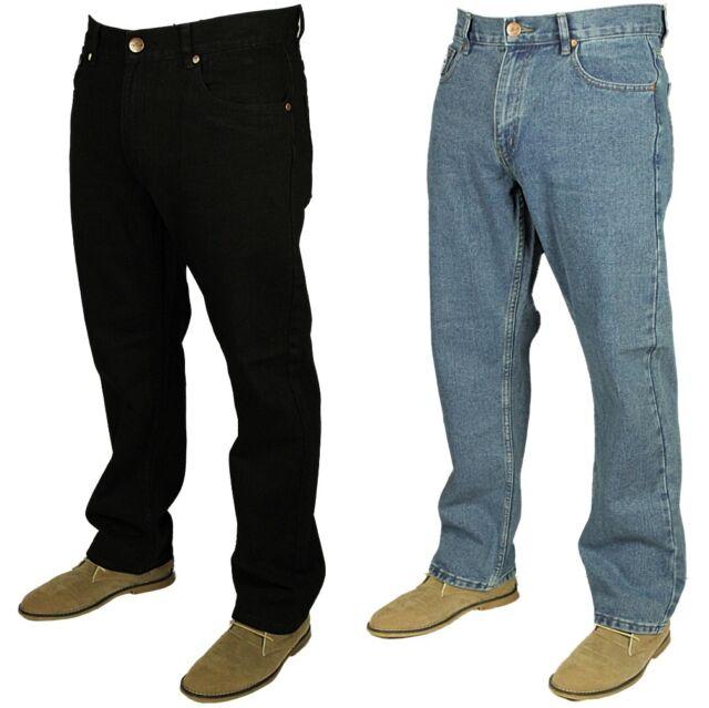 Forge F101 Mens Jeans Straight Leg Regular Fit Denim Trouser Pants Size 30 60