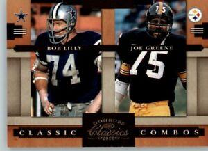 2008 Classics Combos sn:/1000 Bob Lilly & Joe Greene -  Cowboys