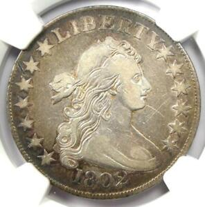 1802 Draped Bust Half Dollar 50C Coin - Certified NGC VF Details - Rare Date!