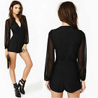 Women Ladies Long Sleeve Clubwear Playsuit Bodycon Party Jumpsuit Romper Trouser