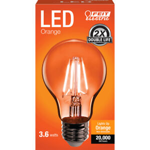 FEIT-Electric-Filament-LED-Bulb-3-6-watts-A-Line-A19-Orange