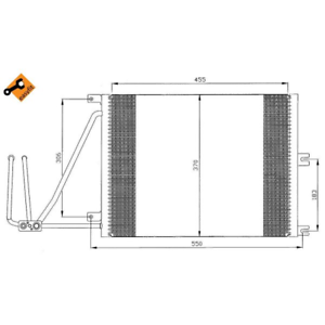 Kondensator Klimaanlage NRF 35292