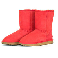 Classic Short Premium Sheepskin Ugg Boots - Red Clearance Sale