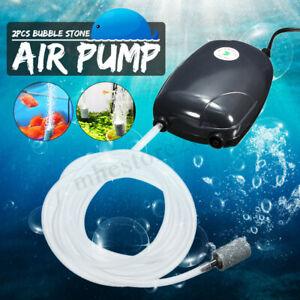 2-Air-Bubble-Disk-Stone-Aerator-Aquarium-Pond-Oxygen-Fish-Tank-Air-Pump