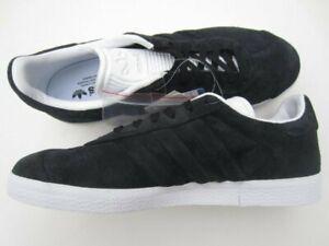 ADIDAS-Gazelle-Stitch-and-Turn-BLACK-White-Tennis-SHOES-Athletic-Men-039-s-7-NEW