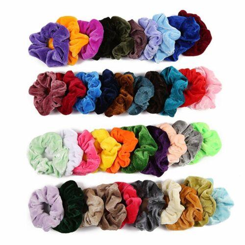 20//30//40 Pack Velvet Elastic Hair Bands Scrunchies Scrunchy Women Girls