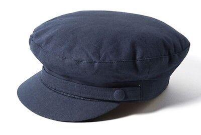 Failsworth Irish Linen Check Cap Navy//Grey//Biscuit