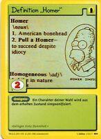 "Simpsons Karte - Definition ""Homer"""