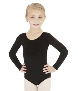 CAPEZIO BLACK AND PINK LONG SLEEVED GYMNASTICA LEOTARD *BRAND NEW*
