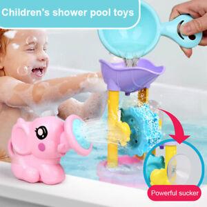 1-Satz-Kinder-Badespielzeug-Elefant-Form-Wasser-Spray-Wasser-Wasserrad