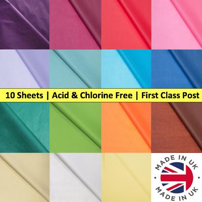 Premium Tissue Paper Acid Free 17gsm 51cm x 71cm Coloured 10 Sheets Gift Wrap