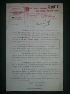 TITANIC-DISASTER-GENERAL-WORKERS-UNION-LETTER-HISTORY-STEAM-SHIP-NAVY