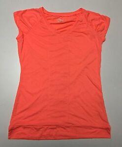 BCG-Women-039-s-Running-Short-Sleeve-V-Neck-Orange-T-Shirt-Top-Sizes-M-L-XL-NWT