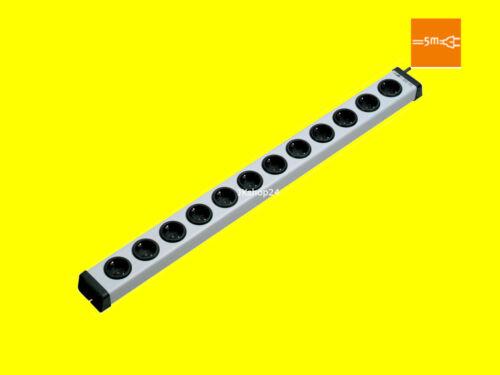 12 veces enchufes barra-con 5m-cable250v/ac3600wvario 0200x00122305