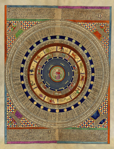 Abraham Cresques 1375 Luni-solar Calendar Cosmography Astrology Middle Ages