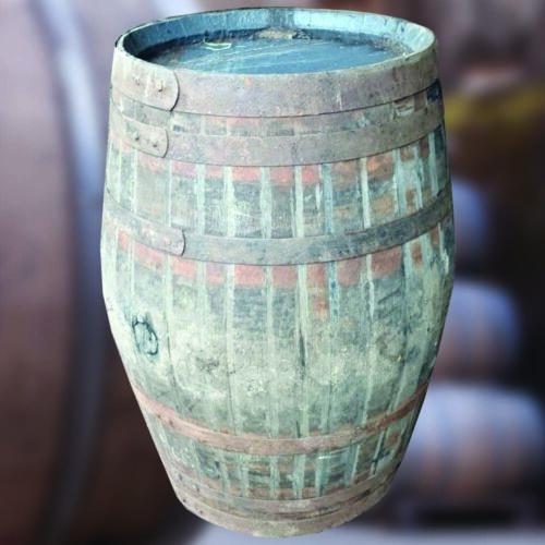 EXTRA Large 500 litri in rovere massello riciclato Whisky BarrelBarile PATIO tavoloStorage