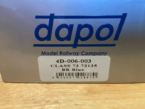 Dapol OO Gauge 4D-006-003 CLASS 73 73135 BR BLUE