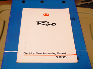 Details about 2003 KIA Rio Electrical Troubleshooting Service Manual/ on