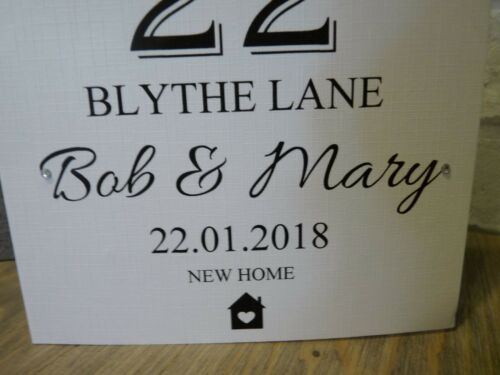 Handmade Personalised New Home House Card