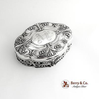 Art Nouveau Jewelry Box Sterling Silver Gorham 1900