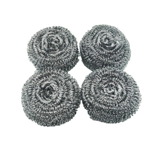 4 Pcs Quality Stainless Steel Sponges Scrubbing Scouring Pad Steel Wool Scrubber