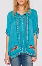 NWT Johnny Was Large L RUNS BIG TO XL or XXL LYDIA PONCHO Embroidered BLOUSE Top
