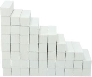 50x Schleifblock / Buffer Weiß - Nagelfeilen Set Nagel Polierblock Buffer nagel