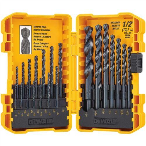 BLACK OXIDE DRILL BIT SET • GENERAL PURPOSE • Wood Metal Plastics DeWALT 21 PC