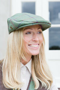 Image is loading Sherwood-Forest-Windsor-Ladies-Tweed-Flat-Cap-Olive- 32540539975