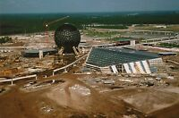 DISNEY WORLD EPCOT CONSTRUCTION 8x10 PHOTO, Spaceship Earth and Monorail