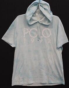 Polo Ralph Lauren Mens Tie-Dye Green POLO 1992 Hoodie S/S T-Shirt NWT Size L