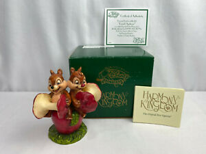 2005-Disney-Harmony-Kingdom-Chip-amp-Dale-034-Donald-Applecore-034-LE-of-500