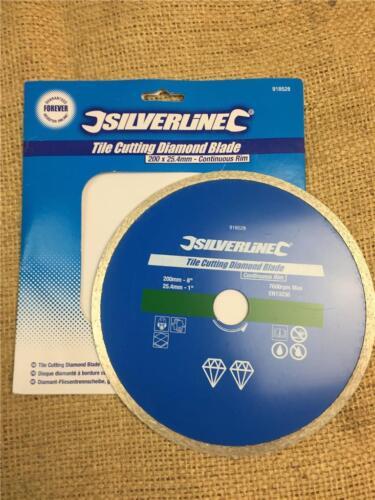 "Jeu Lot W152 200 mm 8/"" Tile Cutting Cutter Diamond Blade 25.4 mm 1/"" B0RE"